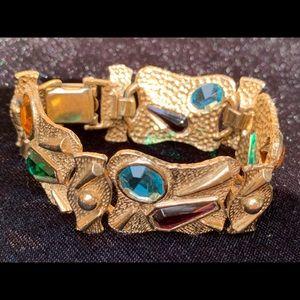 Jewelry - Vintage mid century linked cuff bracelet